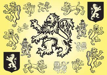 Lion Vectors - vector #160321 gratis