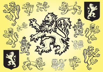 Lion Vectors - Free vector #160321