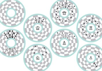 Circular Chess Movement Vectors - Kostenloses vector #160351