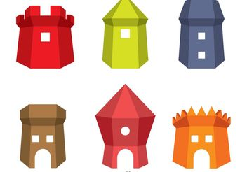 Fort Icons Vector - vector #160371 gratis