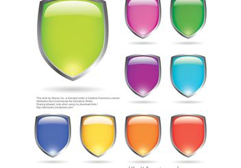 Glossy Shields - Free vector #160391
