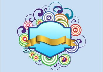 Swirling Banner - Free vector #160531