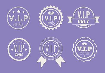 Set of Vip Icon Vectors - Kostenloses vector #160561