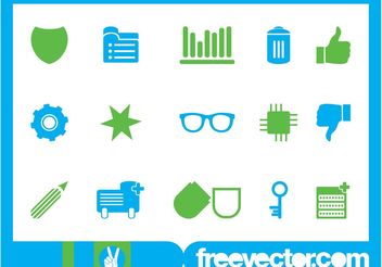 Icons Set Vector Art - Kostenloses vector #160571