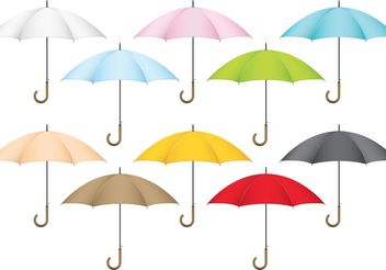 Colorful Vector Umbrellas - Free vector #160621