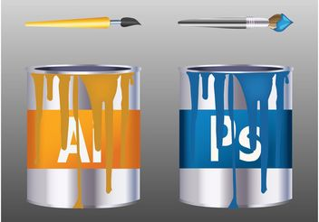 Adobe Paint Cans - Free vector #160641