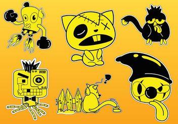 Comic Characters Vectors - Free vector #160661