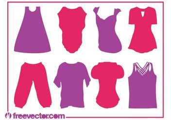 Clothes Silhouettes - Free vector #160731