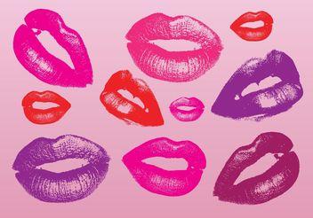 Kiss Vectors - vector gratuit #160751