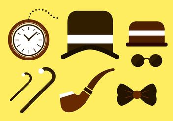 Vintage Roaring 20s Icons - Free vector #160811