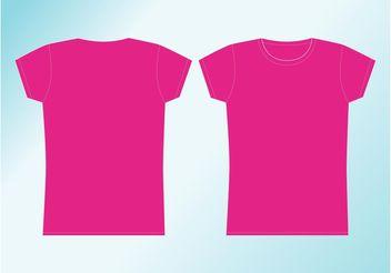 Girl Shirt - vector #160841 gratis