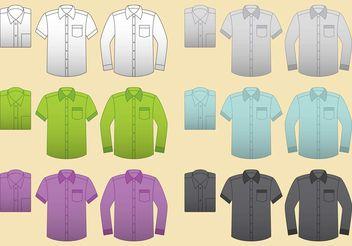 Vector Blank Shirts - Free vector #160911