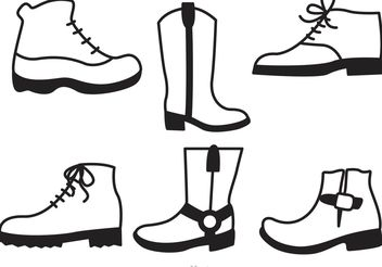 Man Shoes Icons Set - Free vector #160941
