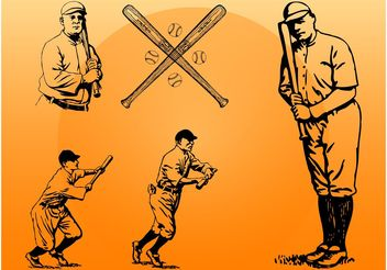 Vintage Baseball - vector gratuit #160991