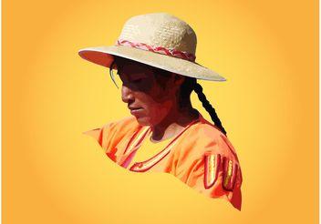 Peruvian Lady - Free vector #161001