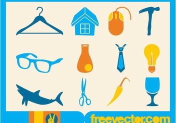 Free Vector Icons Collection - бесплатный vector #161041