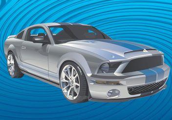 Mustang Car Vector - vector #161351 gratis