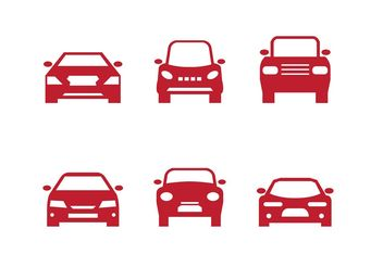 Red Car Front Silhouettes - vector gratuit #161441