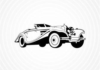 Vintage Roadster Vector - Free vector #161671