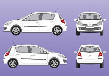 Renault Clio Vector - vector gratuit #161701