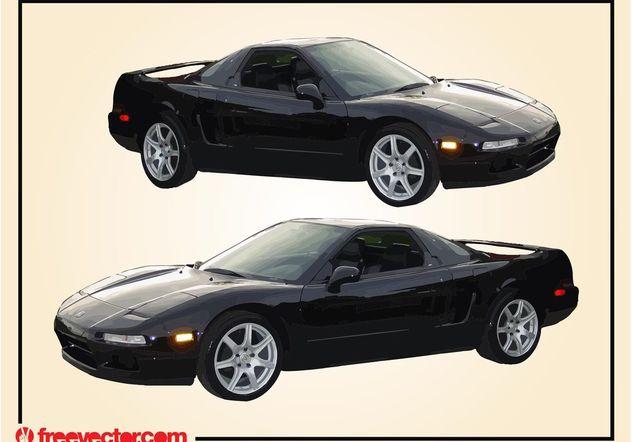 Black Acura Car - Free vector #161731