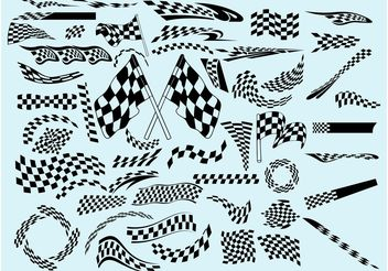 Racing Flags - vector gratuit #161751