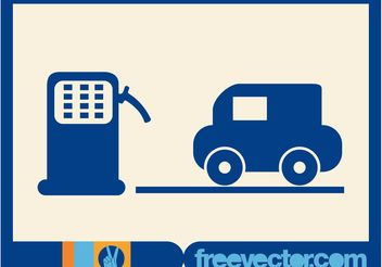 Gas Station Icon - Free vector #161781