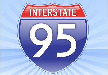 Interstate Sign - vector gratuit #161951