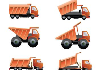 Dump Trucks Vector Pack - Kostenloses vector #162011