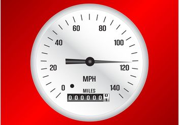 Speedometer Vector - vector #162051 gratis