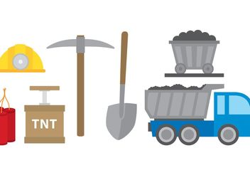 Mining Icons - Free vector #162081
