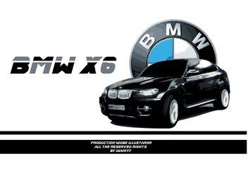 bmw x6 - vector #162101 gratis