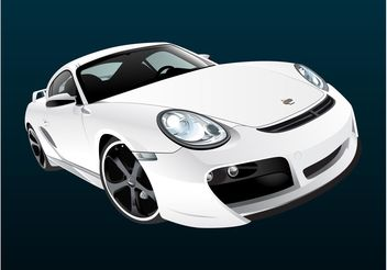 White Porsche - Free vector #162131