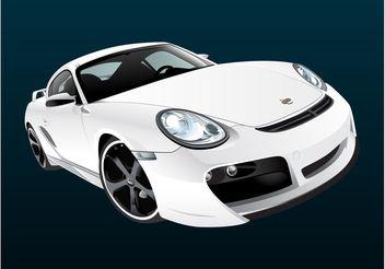 White Porsche - Kostenloses vector #162131