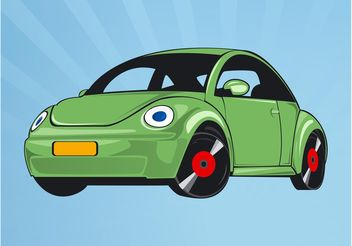 Volkswagen Beetle - vector gratuit #162171