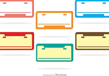 License Plate Vectors - vector #162191 gratis