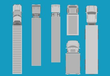 Freight Trucks Aerial View Set - vector gratuit(e) #162201