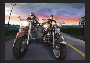 Bikers Vector - Free vector #162221
