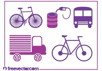 Transport Icons Vectors - vector gratuit #162321