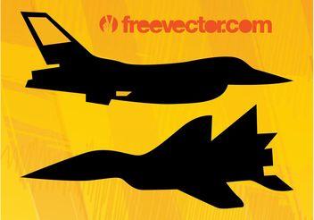 Military Planes Vectors - Kostenloses vector #162391