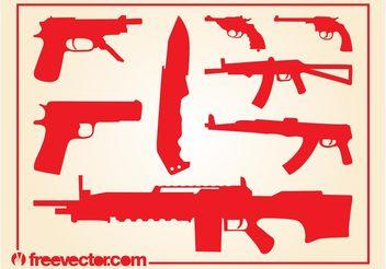 Weapons Vectors - Free vector #162461