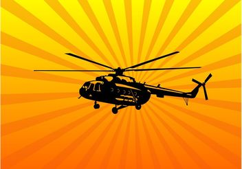 Helicopter Vector Art - Free vector #162471