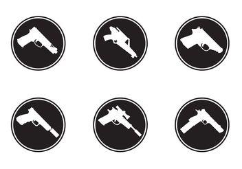 Gun Shapes Icons - Free vector #162541
