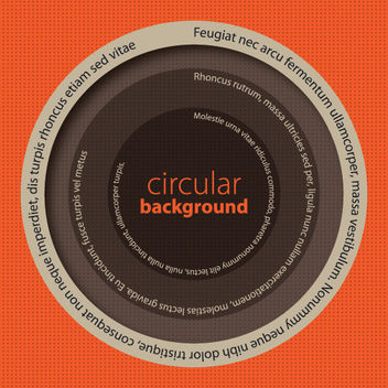 Circular Message Background - vector gratuit #162611