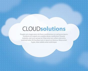 Cloud Solution Blue Background - Free vector #162621