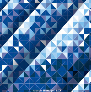 Abstract Mosaic Blue Background - Free vector #162651