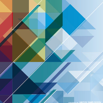 Abstract Geometric Colorful Background - vector gratuit #162661