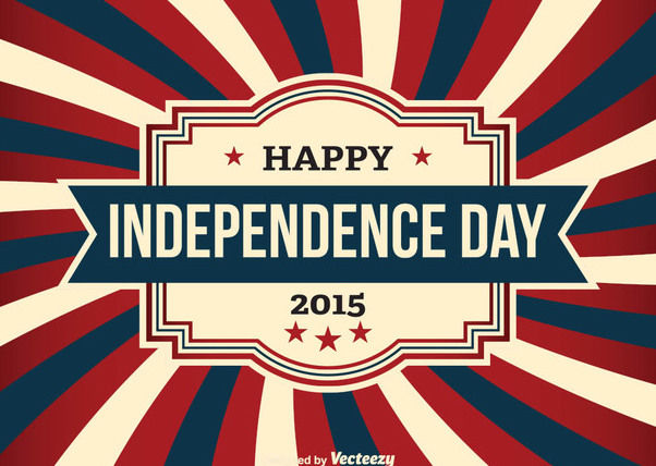 USA Independence Day Vintage Card - vector gratuit #162701