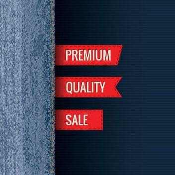 Premium Jeans Sales Promo - Free vector #162711