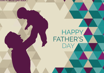 Father rising kid - vector #162771 gratis
